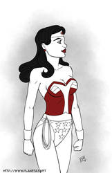 Wonder Woman  for Inktober and Wonder Day by mhunt