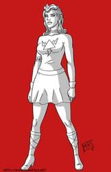 Lightning Girl - Inktober by mhunt