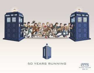 Doctor Who 50th for SDCC'13 Souvenir Book by perpetualpanda