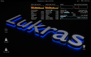 Sabayon linux 14.06 conky by Lukazoid