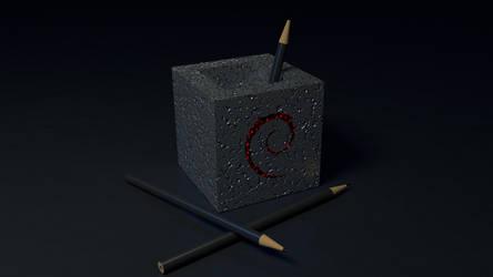 Debian Pencils by Lukazoid