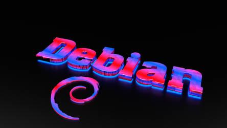 Debian Linux Wallpaper by Lukazoid