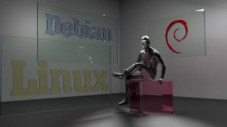 Debian Glass  Male 3D by Lukazoid