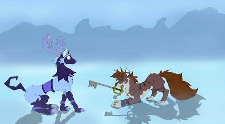 Fanart| Sora meets Winterhorn by Triss-Aiedail