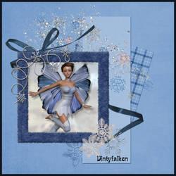 Blue Winter Fae by Vintyfalken
