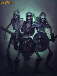 Skeleton army by Amanda-Kihlstrom