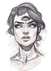 Midnight sketch by Amanda-Kihlstrom