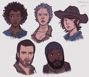 Walking Dead fanart pt. 2 by Amanda-Kihlstrom