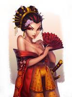 Commission: Bayushi Hanako by Amanda-Kihlstrom