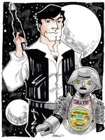Buck Rogers and Twiki by misfitcorner