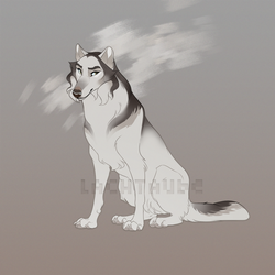 Caped White Wolf Adoptable - Closed by Lachtaube