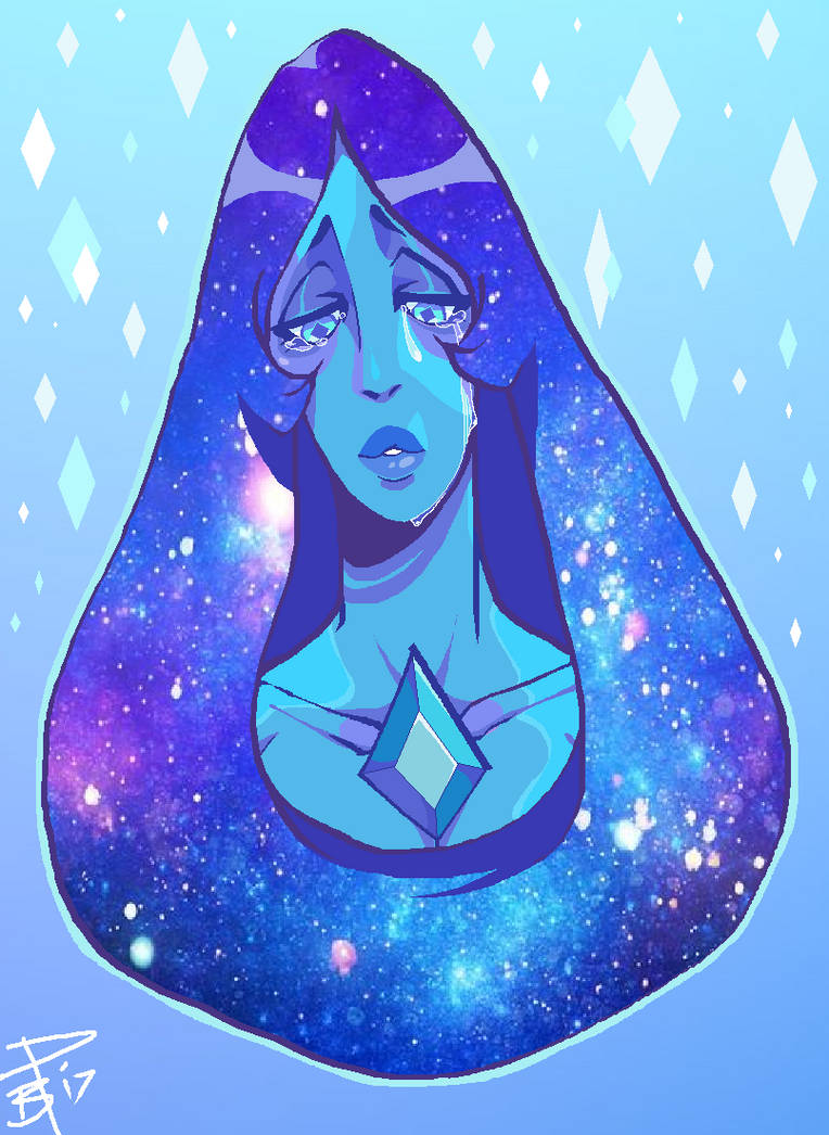 First warm-up sketch of the year out of my rut, huzzah! This lovely rock lady giving me life with her beautiful sadness lord halp meh. Blue Diamond(c)Steven Universe art(c)Bahnloopi