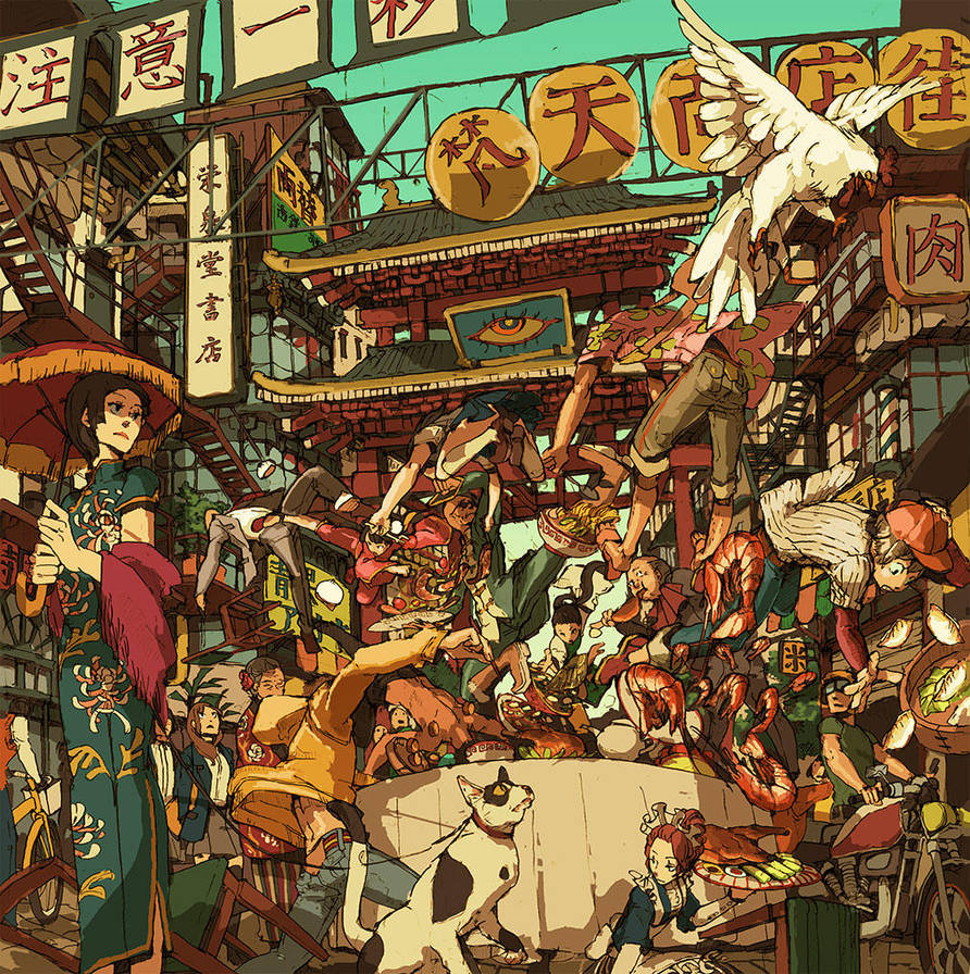 Chinese Battle lunch-table by hira-geco