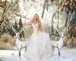 Golden Christmas by CarmensArts