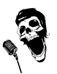 Screaming Skull Mic by JeffEasyStreetInk