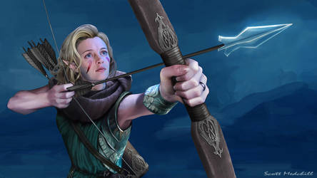 Elven Archer by goatlord51