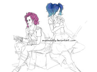 Paladins - Maeve and Evie w.i.p by MadieDalily