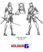 Galaxia Sky - battle suit by Dangerman-1973