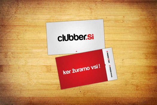 Clubber.si business card by Benjamin-Dandic