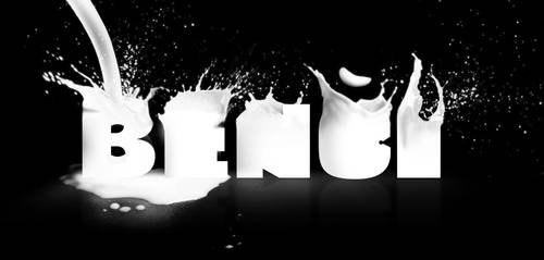 Milk text by Benjamin-Dandic