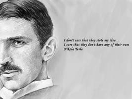 Nikola Tesla by Nitroniuminc