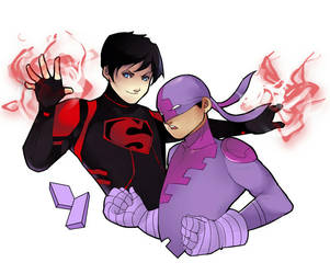 Superboy and Bunker by Hephaise