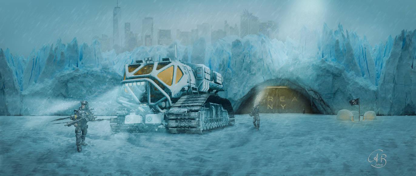 Ice wasteland by Alobyss