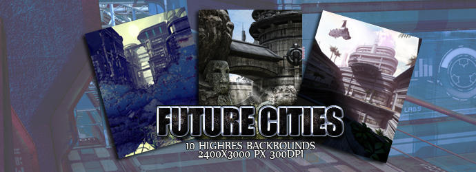 Future Cities (Backgrounds) by Lexana