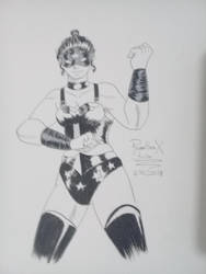 Wonder Woman Dominatrix Inkoctober1 by PhamthomStrikerX