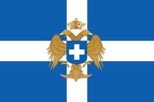 Flag of the Byzantine Kingdom of Greece by ramones1986