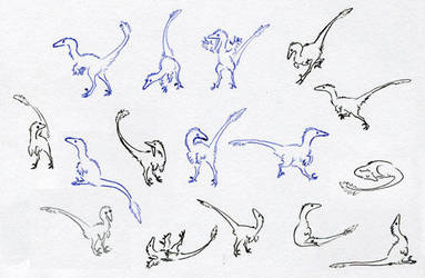 A Bunch of Tiny Troodons by Paperiapina