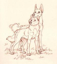 Anyara and Kizia by Paperiapina
