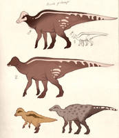 Dinosaur color concept: Crowned bellower by Paperiapina