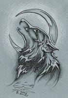 ACEO wolf by Paperiapina