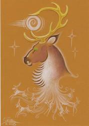 Dream deer by Paperiapina