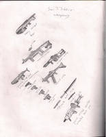 Sai'S'Sshhiir weaponry by A-Real-Shame