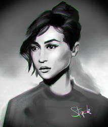60s girl portrait study by Stupchek