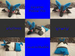 Lucario Pillow Pet by FlamieShadowTiger