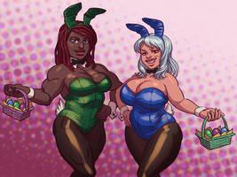 Easter Bunnies by MisterCrowbar