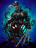 SPIDERMAN VENOM colors by CThompsonArt