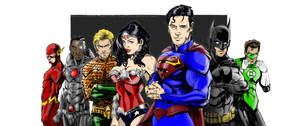 JUSTICE LEAGUE colors by CThompsonArt
