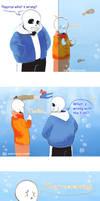 Undertale comic: Sans and Papyrus at the aquarium by atomicheartlight