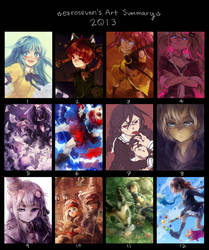 Art Summary 2013 by ezroseven