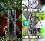 Horror Acrylic Charm Night Light Tree Original Art by SulkyRusalka