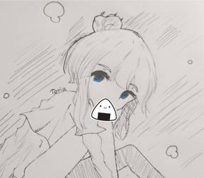 Inktober #2 - Kelly Sketch by CakehMaria