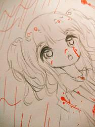 bloody schoolgirl sketch by CakehMaria