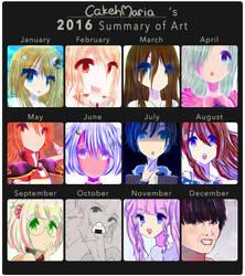 2016 summary of art by CakehMaria