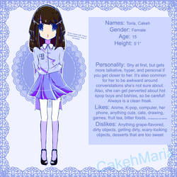Toria/Cakeh reference sheet by CakehMaria