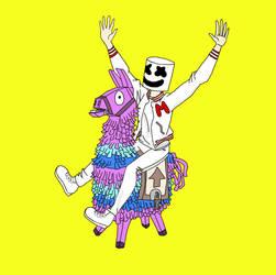 Marshmello found a Loot Llama by MeloYellowJellow