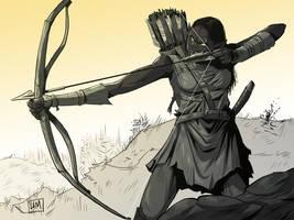 Orcish Archery by helena-markos